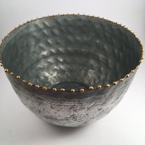 Zinktopf mit Perlenkante L 12,5 cm