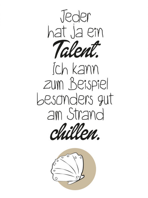 Postkarte Talent