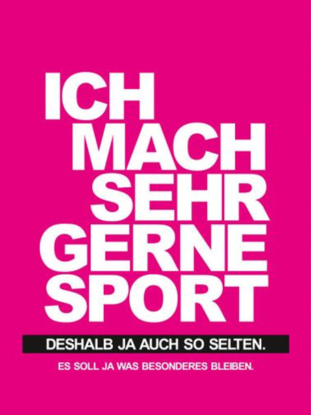 Postkarte Sportskanone