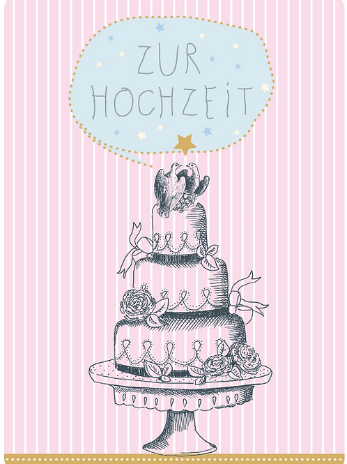 Postkarte - Zur Hochzeit (Torte)