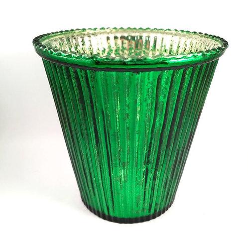 Windlicht dunkelgrün-silber
