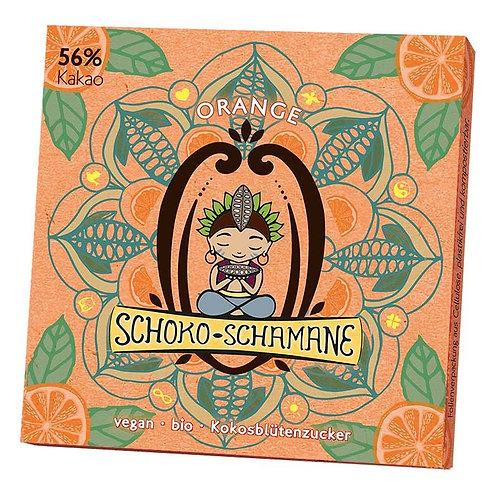 Schoko-Schamane 50g VEGAN - Orange (56% Kakao)