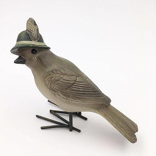 Vogel Mann mit Feder links (schaut zur Seite)