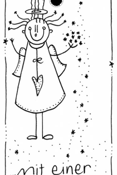 Kärtchen mit Schnur - Mit einer Handvoll Sternenstaub