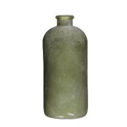 Vase grün gefrostetes Glas 25 cm
