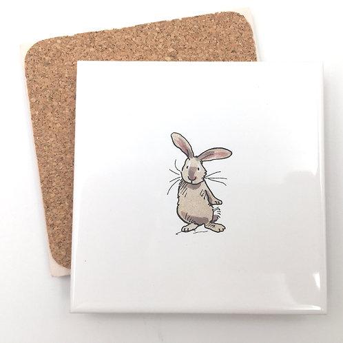 Untersetzer Keramik - Hase stehend