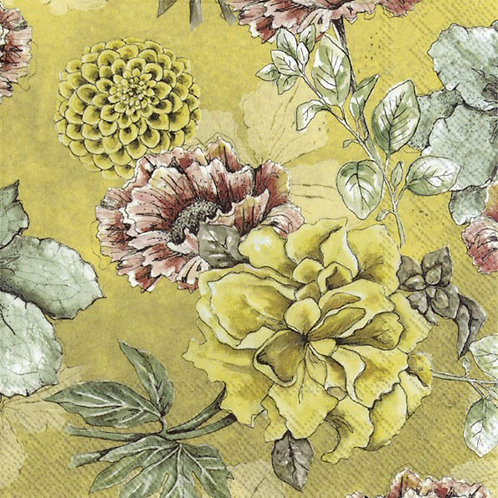 Lunch-Servietten : Blossom Tale ochre