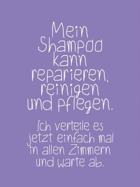 Postkarte Shampoo