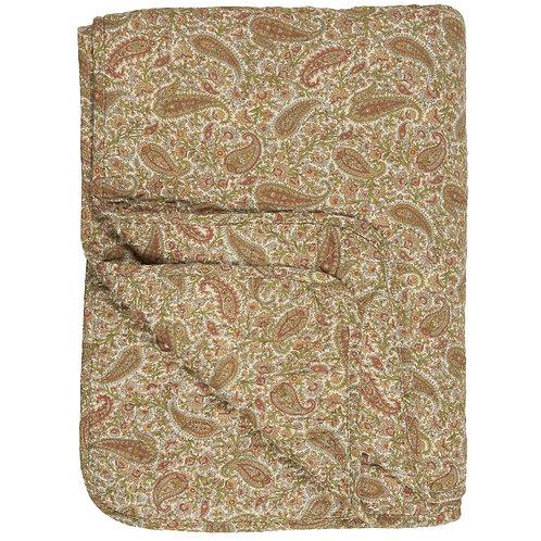 Quilt 130x180 Paisley grün-gold-rost