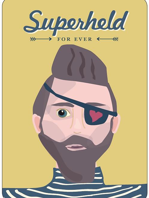 Postkarte - Superheld