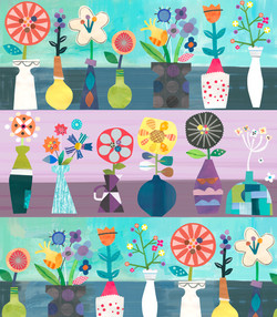 Horizontal painted flowers