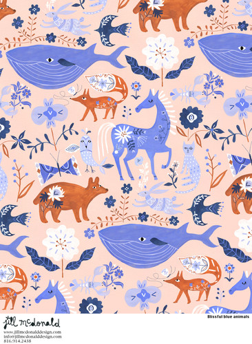 Blissful blue animals