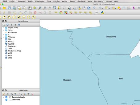 Geoportaal in QGIS