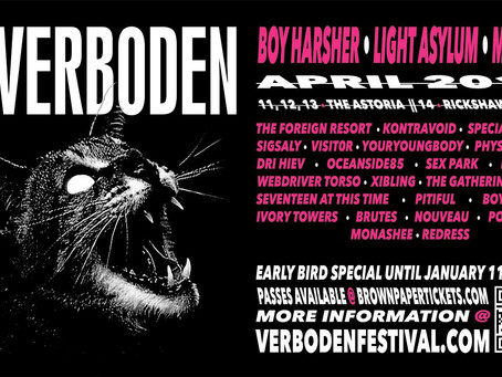 Darkwave Music Festival Verboden Announces Lineup