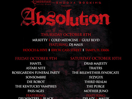 Dark Alternative Music Festival Absolution Announces Dates and Lineup Drab Majesty and Hante. Headli