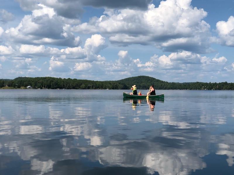 Kayaking on Beech Lake
