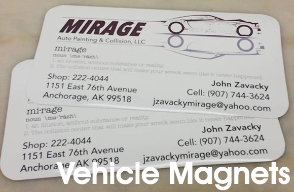 Mirage Auto Magnetic Sign