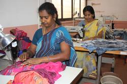 Stitching section