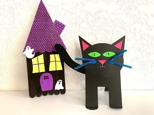 Boo Kit Black Cat & Haunted House