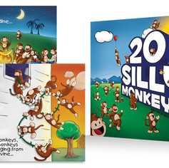 20 Silly Monkeys - children's book illustration