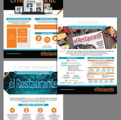 El Restaurante magazine - sell sheet design
