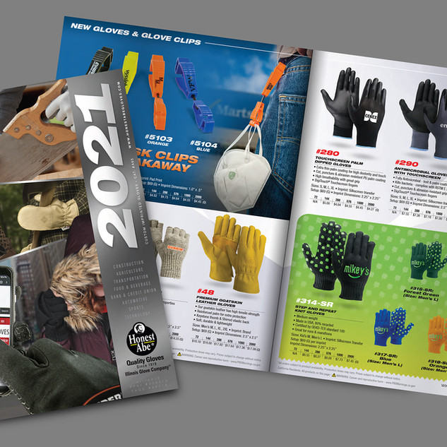 Honest Abe Gloves - 2021 Catalog Photography, layout and design