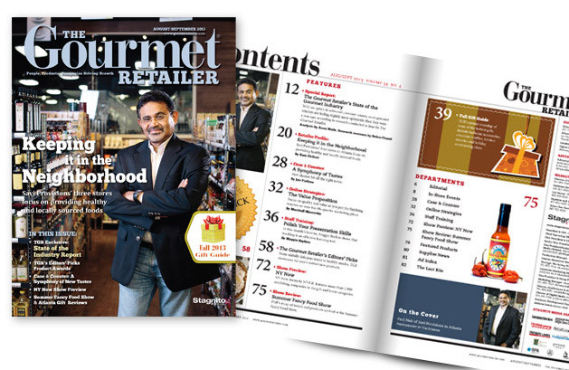 The Gourmet Retailer - magazine layout and design