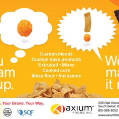 Axium Foods, Inc. - magazine ad design