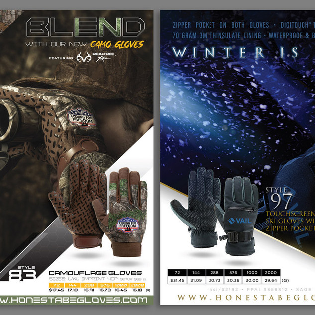 Illinois Glove Company - sell sheet design & photography