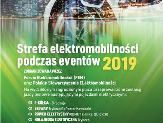 Strefa Elektromobilności podczas eventów 2019