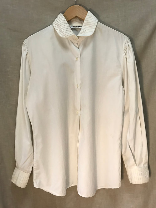 Nara Camice White Pleated Top (Size XL)