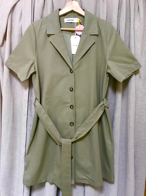 The Editor's Market Belted Shirt Dress (Size M)