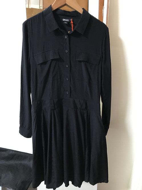 DKNY Black Shirt Dress (Size XL)