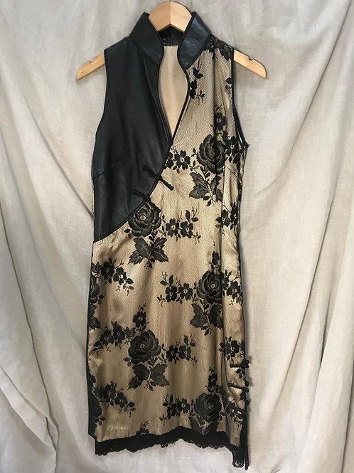 Leather and Lace Cheongsam (Size S)