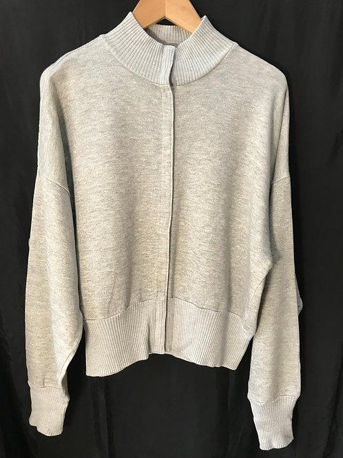 Norma Kamali Grey Knitted Cardigan (Size M)