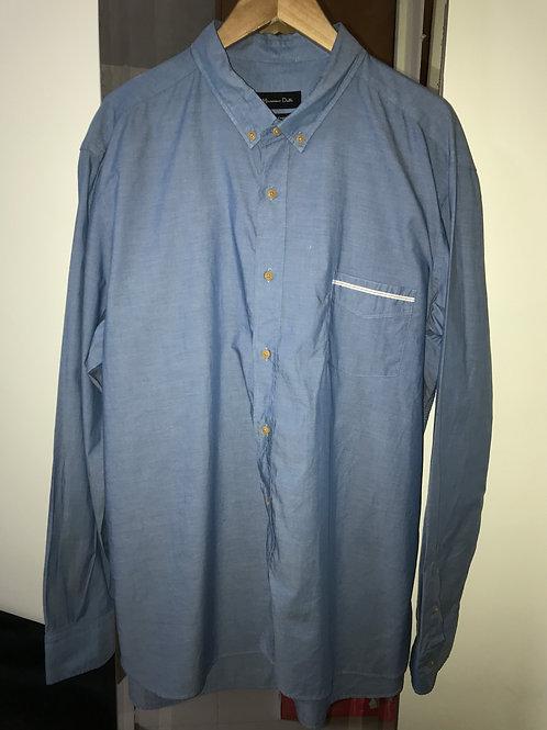Massimo Dutti Blue Men's Shirt (Men's XL)