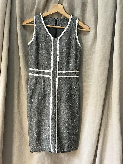 Textured Black & White Dress (Size XS)