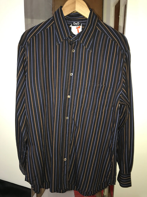 Dolce & Gabbana Striped Men's Shirt (Men's M)