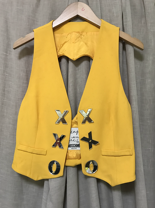 Cheap & Chic Moschino Quirky Yellow Vest (Size XS-M)