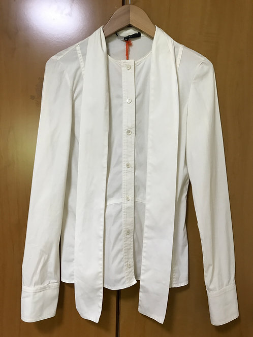Gucci White Tie Shirt (Size S)