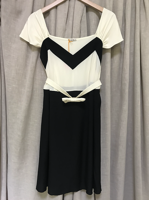 Miu Miu Colourblock Dress (Size XXS)