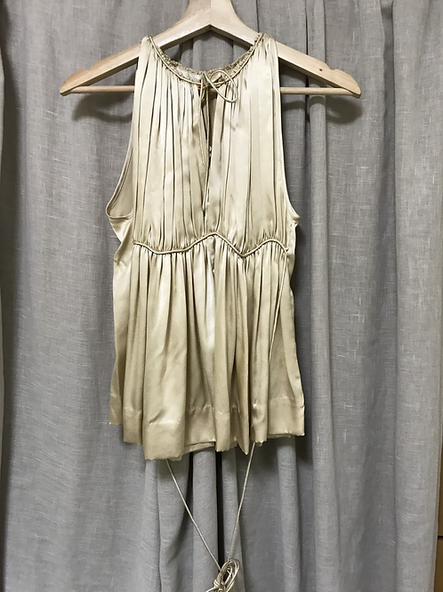 3.1 Phillip Lim Gold Gathered & Pleated Top (Size XS-M)