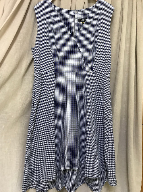 DKNY Checkered Sleeveless Dress (Size XXL)