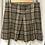 Thumbnail: DKNY Brown Plaid Skirt (Size M)
