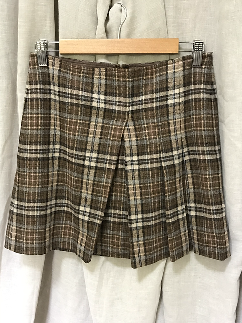 DKNY Brown Plaid Skirt (Size M)