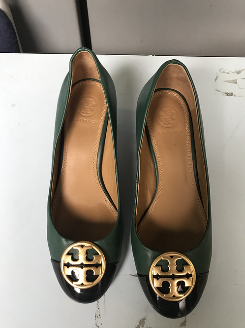 Tory Burch Green and Black Heels (Size 36.5)