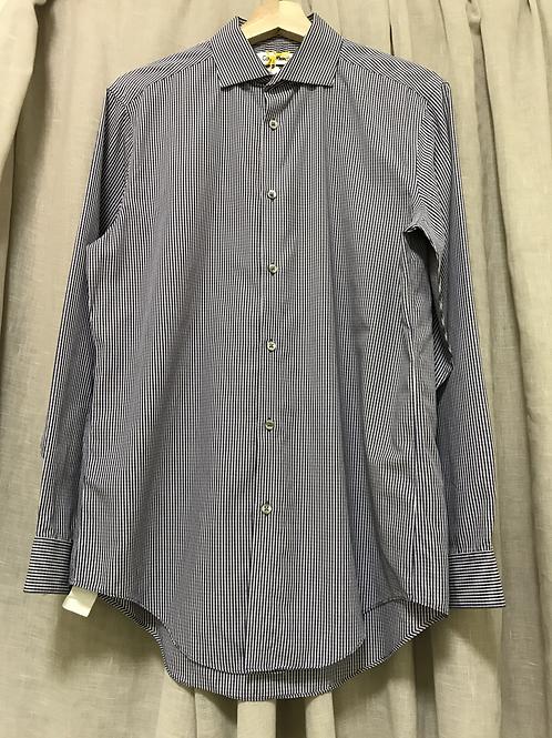 Calvin Klein Purple Checkered Long Sleeve Shirt (Size Men's M)