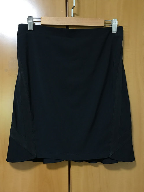 Emporio Armani Black Fitted & Flared Skirt (Size M)