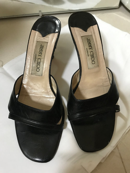 Jimmy Choo Black Mules (Size 36.5)