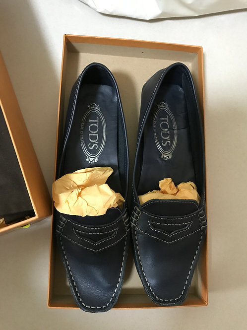 Tod's Navy Loafers (Size 37)